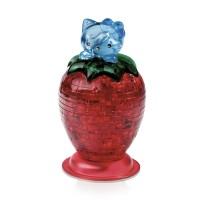 Hello Kitty c клубникой со светои Crystal Puzzle 3d